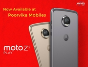 Best deal of Moto z2 play mobiles now at poorvika mobiles