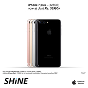 Apple iPhone 7 Plus 128GB Cash back Rs.7000 at ShinePoorvika