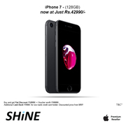 Apple Iphone 7 128GB offers and discounts available at Shine Poorvika