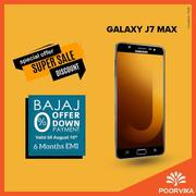 Samsung Galaxy J7 max is available with Bajaj Offers on Poorvika