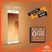 Samsung Galaxy C9 pro is available with Bajaj Offers on Poorvika
