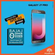 Samsung Galaxy J7 Pro is available with Bajaj Offers on Poovika