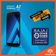 Samsung Galaxy A7 independence day offers at poorvika mobiles
